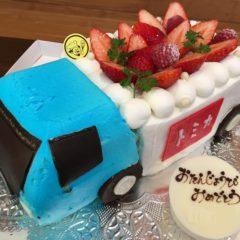 3Dケーキ(トミカのトラック)