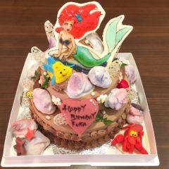 パーティーケーキ(リトル・マーメイド) 二段5/7号 11665円(税別)