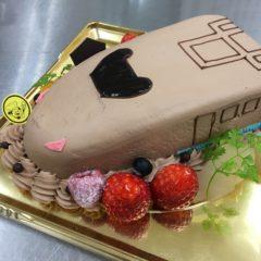 新幹線ケーキ(チョコ)5号 3950円(税別)