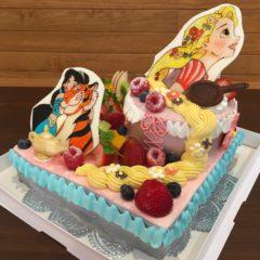 パーティーケーキ(ジャスミンとラプンツェル)二段4/7号 12830円(税別)