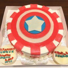 キャラクターケーキ(キャプテン・アメリカ)7号 5650円(税別)